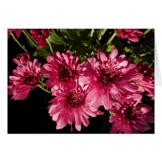 Tarjeta Crisantemos rosados