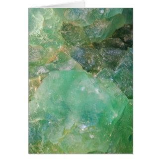 Tarjeta Cristal de cuarzo verde del ajenjo