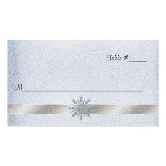 Tarjeta cristalina del lugar de la recepción tarjetas de visita