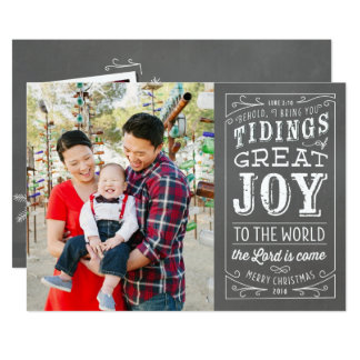 Tarjeta cristiana 2016 de la foto del día de invitación 12,7 x 17,8 cm