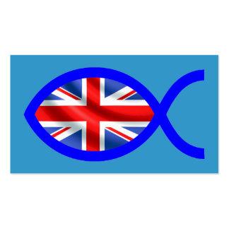 Tarjeta cristiana británica de la zona de la bande plantillas de tarjetas personales
