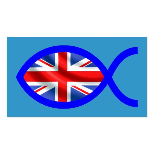 Tarjeta cristiana británica de la zona de la plantillas de tarjetas personales