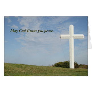Tarjeta cristiana de la condolencia,