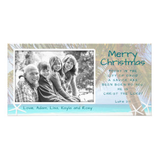 Tarjeta Tarjeta cristiana de la foto del navidad de la