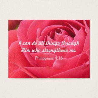 Tarjeta cristiana de la inspiración de la fuerza