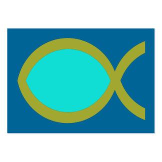 Tarjeta cristiana de la zona del símbolo de los pe plantilla de tarjeta personal