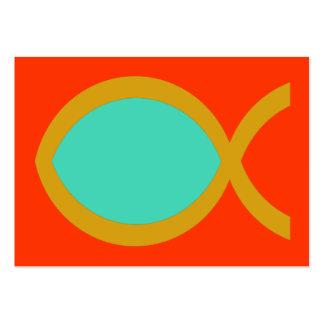 Tarjeta cristiana de la zona del símbolo de los pe tarjeta de visita