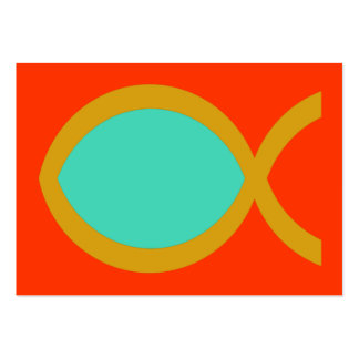 Tarjeta cristiana de la zona del símbolo de los tarjetas de visita grandes