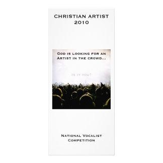 Tarjeta cristiana del estante del personalizable d tarjeta publicitaria a todo color