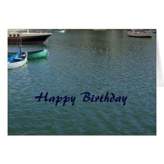 Tarjeta cristiana del feliz cumpleaños - barcos