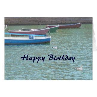 Tarjeta cristiana del feliz cumpleaños - barcos 2