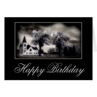 Tarjeta cristiana del feliz cumpleaños de la igles