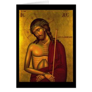 Tarjeta Cristo el icono del novio