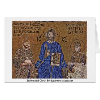 Tarjeta Cristo Enthroned del fabricante de mosaicos