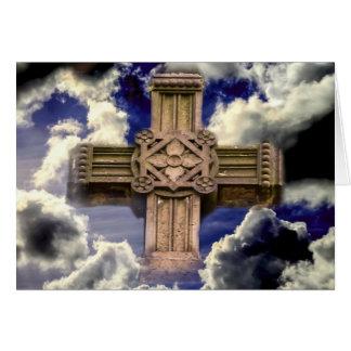 Tarjeta Cruz en cielo