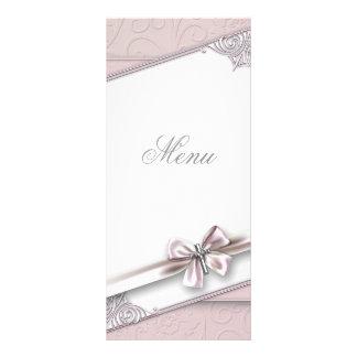 Tarjeta cruzada rosada bonita del menú tarjeta publicitaria a todo color