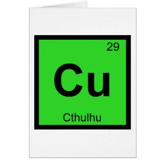 Tarjeta Cu - símbolo de la tabla periódica de la química