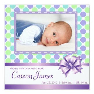 Tarjeta cuadrada de la invitación del bebé invitación 13,3 cm x 13,3cm