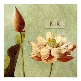 Tarjeta Cuadrado del boda de Etude de Fleurs Vintage