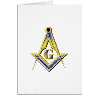 Tarjeta Cuadrado y compases del Freemason