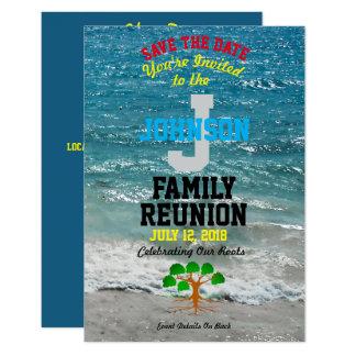 Tarjeta Cualquie reunión de familia tropical conocida con
