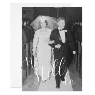 Tarjeta CUALQUIER AÑO - aniversario y foto de boda todavía