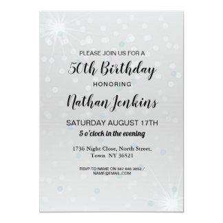 Tarjeta Cualquier fiesta de cumpleaños de la edad invita a