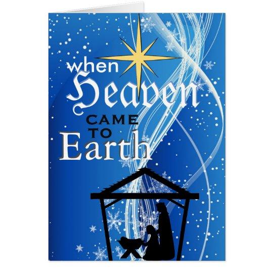 """Tarjeta """"Cuando el cielo vino navidad de la natividad de"""
