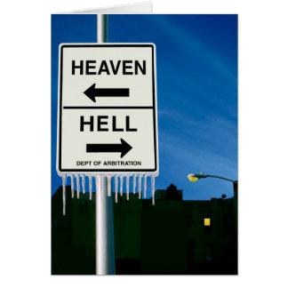 Tarjeta Cuando el infierno congela encima