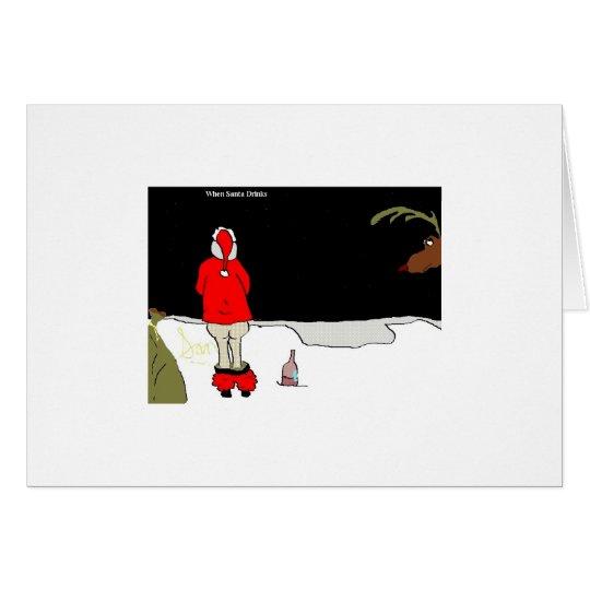 """Tarjeta Cuando Santa bebe (""""Snowbank"""")"""
