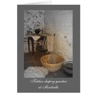 Tarjeta Cuartos el dormir de la cocina en Monticello
