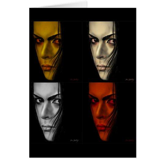 Tarjeta cuatro caras