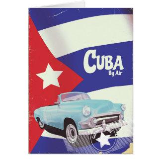 Tarjeta Cuba por el aire