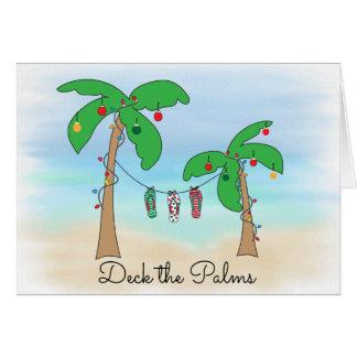 Tarjeta Cubierta el navidad tropical de la playa de las