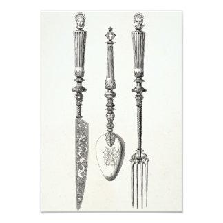 Tarjeta Cubiertos viejos de los cuchillos de la cuchara de