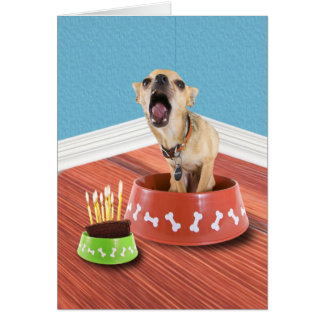 Tarjeta Cuenco del cumpleaños