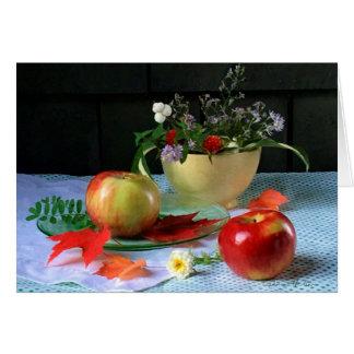 """Tarjeta """"Cuenco y manzanas amarillos"""" FARMphemera de LuRay"""