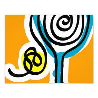 Tarjeta Cuerda colorida del espiral del tenis