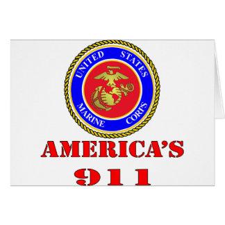 Tarjeta Cuerpo del Marines América 911 del USMC Estados