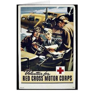 Tarjeta Cuerpo del motor de la Cruz Roja