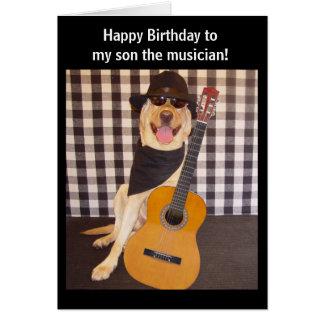 Tarjeta Cumpleaños adaptable del hijo del músico