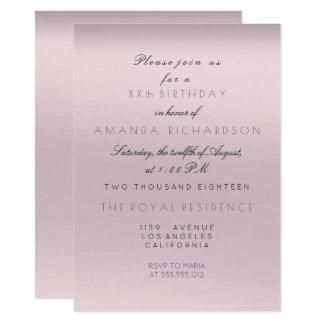 Tarjeta Cumpleaños Amethyst púrpura de la novia de la