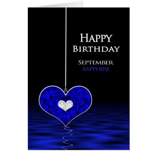 Tarjeta Cumpleaños - Birthstone - septiembre - zafiro