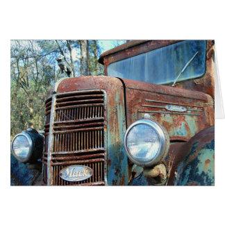 Tarjeta Cumpleaños, camión del vintage, humor