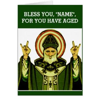 Tarjeta Cumpleaños católico irlandés