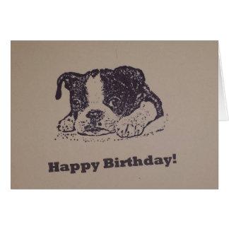 Tarjeta Cumpleaños de Boston Terrier