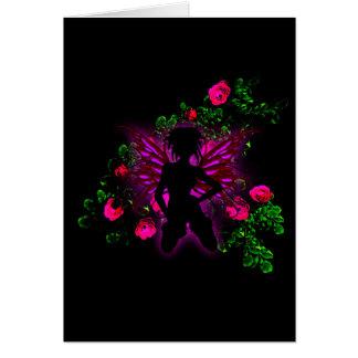 Tarjeta Cumpleaños de hadas color de rosa de neón RSVP del