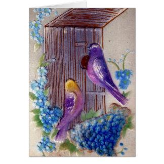 Tarjeta Cumpleaños de la casa del andBird de los pájaros