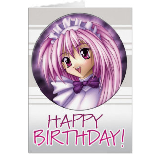 Tarjeta Cumpleaños de la criada del chica de Manga