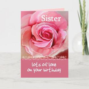 Feliz cumpleanos hermana con rosas